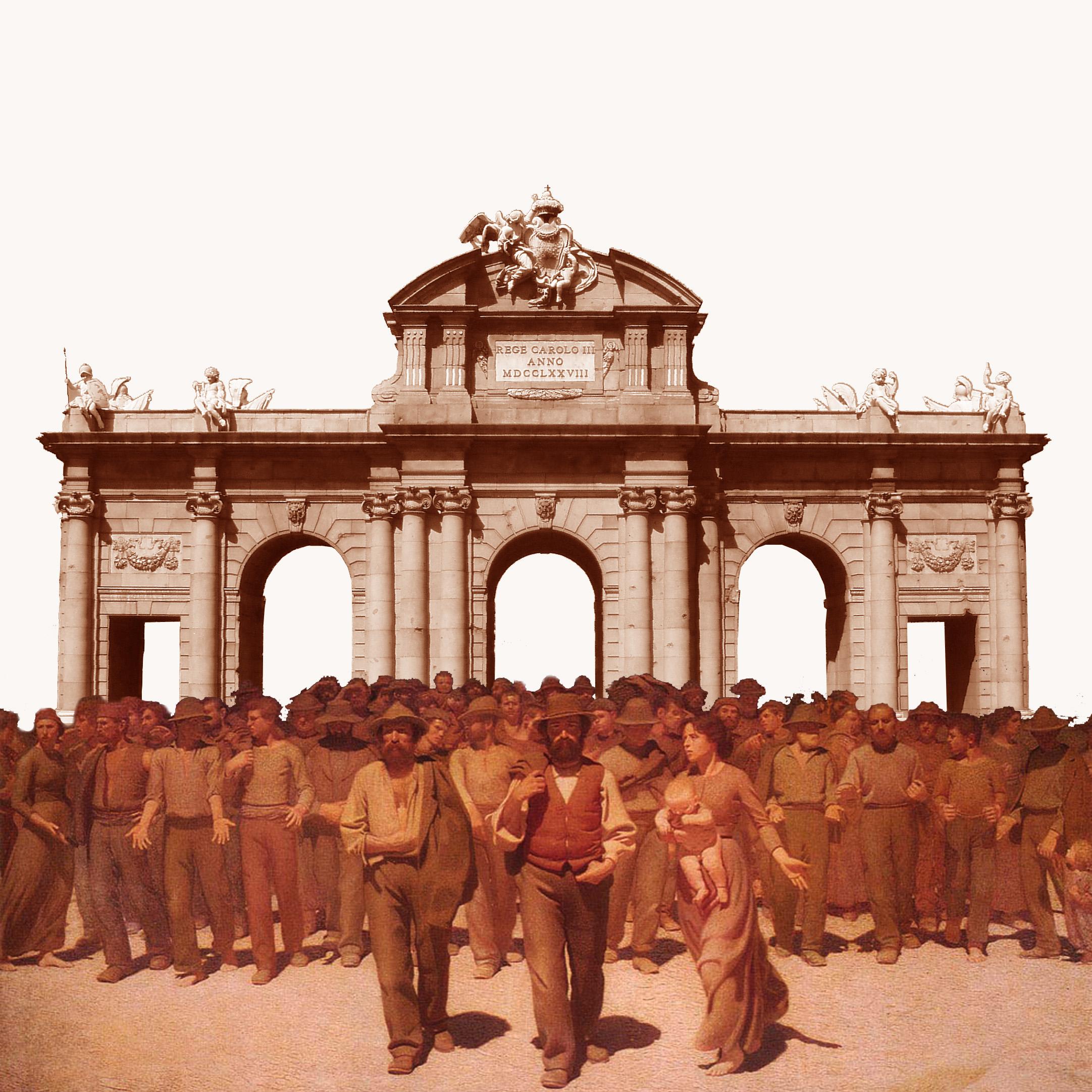 Imagen MCyP: puerta de alcalá y ciudadanos