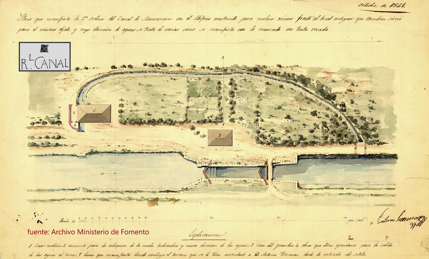 Segunda Esclusa. 1841. Plano OH-634.
